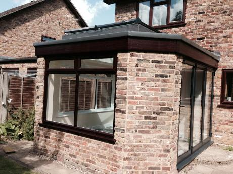 LANTERN ROOF, with flat felt roof surround